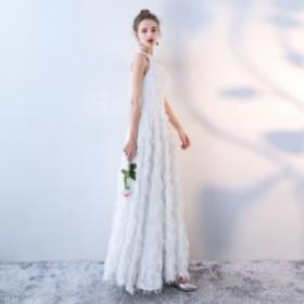 大人気 ふわふわフェザー ホルターネック ウェディングドレス 白 二次会 花嫁 ウェディングドレス 大きいサイズ激安ウェディングドレス