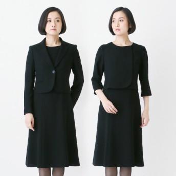 フォーマル レディース 喪服 礼服 ブラックフォーマル スーツ ブラックフォーマルテーラードカラー2点セット 喪服・礼服 「ブラック」