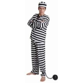 ハロウィン コスプレ フォンデットスーツ メンズ 囚人 囚人服 牢屋 監獄 刑務所 コスプレ コスチューム メンズ レディース 大人