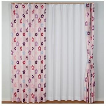 【送料無料!】花柄カーテン ドレープカーテン(遮光あり・なし)