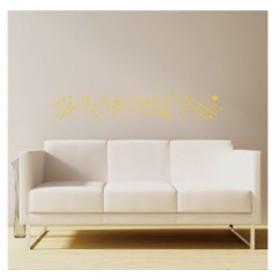 【Smart Design】オシャレな壁紙シール/ドットとライン/ノリ跡が残らない/壁飾りウォールステッカー#イエロー 送料込