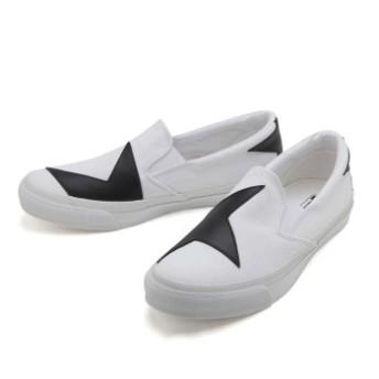 【CONVERSE】 コンバース SKIDGRIP BS SLIP-ON スキッドグリップ BS スリップオン 32461040 WHITE/BLACK 7(25.5cm)