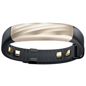スマートウォッチ本体 【日本正規代理店品】Jawbone UP3 ワイヤレス活動量計リストバンド 睡眠計 心拍計 ブラックゴールド