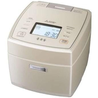 三菱電機 MITSUBISHI IHジャー炊飯器 5.5合炊き 本炭釜 白和三盆 NJ-VW108-W