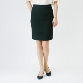 スカート レディース ロング しっかり素材のスッキリタイトスカート 「ブラック」