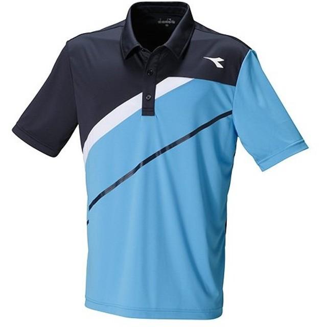 ディアドラ(diadora) テニス メンズ ゲームシャツ ブルーFL DTG8383 60 ゲームウェア テニスウェア 部活 試合 練習 トップス