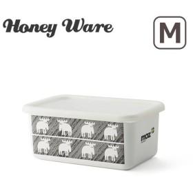 Honey Ware(ハニーウェア)moz(モズ)シリーズ 深型角容器 M 琺瑯 富士ホーロー