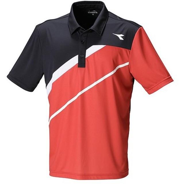 b743210a49f3c ディアドラ(diadora) テニス キッズ ジュニア ゲームシャツ レッド DTJ8388 35 ゲームウェア テニスウェア
