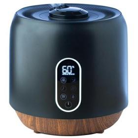 加湿器 ハイブリッド式 スチーム式 / 上から給水 アロマディフューザー 大容量 卓上 オフィス アロマ おしゃれ KSS-MX401BK maxzen