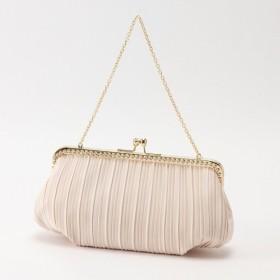 バッグ カバン 鞄 レディース クラッチバッグ ビジュー使いがま口パーティーバッグ チェーン付き  カラー 「ベージュ」