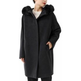 MAX MARA STUDIO マックスマーラ NANDA シルクウール アンゴラ混 フォックスファー装飾コート 007