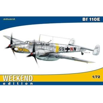 1/72 メッサーシュミット Bf110E ウィークエンドエディション プラモデル(再販)[エデュアルド]《在庫切れ》