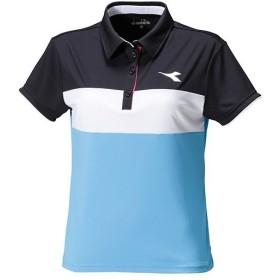 ディアドラ(diadora) テニス レディース ゲームシャツ ブルーFL DTG8393 60 ゲームウェア テニスウェア 部活 試合 練習 トップス ウィメンズ