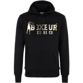 《セール開催中》BOXEUR DES RUES メンズ スウェットシャツ ブラック M コットン 80% / ポリエステル 20% HOODED SWEATSHIRT WITH FRONT BIG LOGO