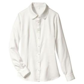 パウダーサテンシャツ(抗菌防臭加工)(リボンタイ。フリルタイ付) (ブラウス),Blouses, Shirts