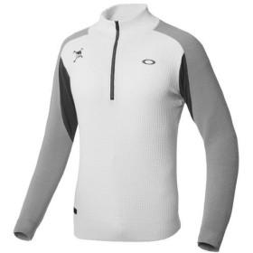 オークリー OAKLEY メンズ ゴルフウェア セーター SKULL DIVIDED H/Z SWEATER 461708JP 100 White 【2018FW】