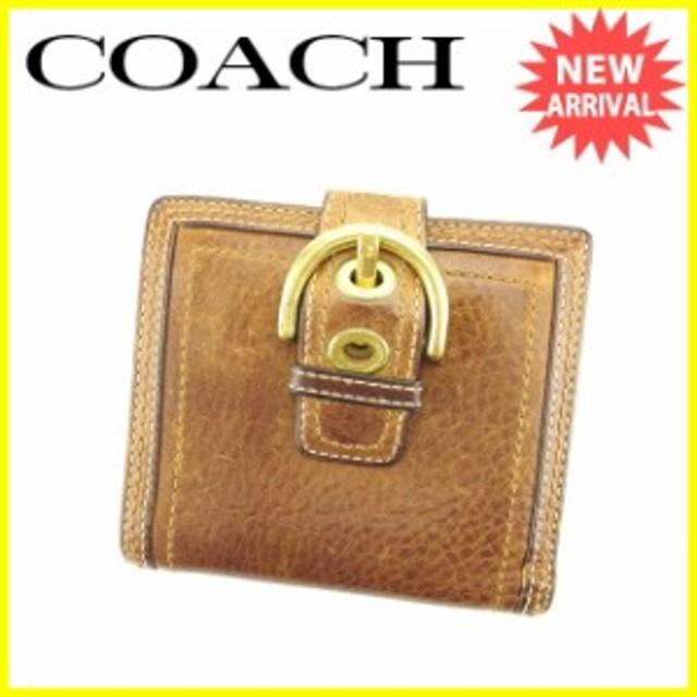 1ff19f8da83a コーチ COACH Wホック財布 財布 小物 サイフ 二つ折り財布 ベルトデザイン 【中古】