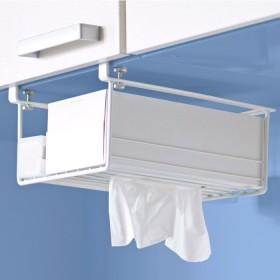 ベルーナインテリア シンプルな戸棚下キッチン収納シリーズ<まな板ハンガー・タオルハンガー・ラック・ツールハンガー・ペーパ ホワイト ラック