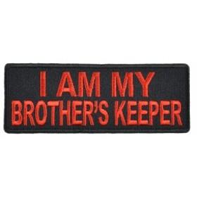ミリタリーパッチ I AM MY BROTHER´S KEEPER アイロンシート付[p4282]