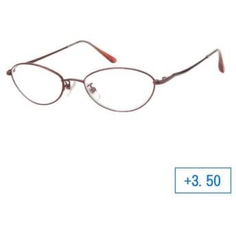 パーフェクトシニアグラス 老眼鏡 RL-201 レディース +3.50 ワイン