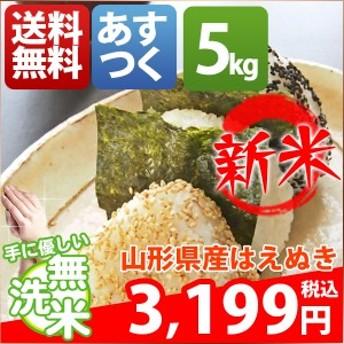 無洗米 5kg 送料無料 はえぬき 山形県産 30年産 1等米 米 5キロ お米 クーポン対象