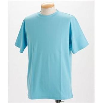 ドライメッシュTシャツ 2枚セット 白+サックス Mサイズ