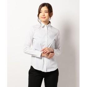 ICB(大きいサイズ) Cotton Shirting シャツ レディース ネイビー系1 46 【ICB(LARGE SIZE)】
