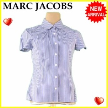 マーク ジェイコブス MARC JACOBS シャツ 服 半袖 レディース ストライプ 【中古】 L1281