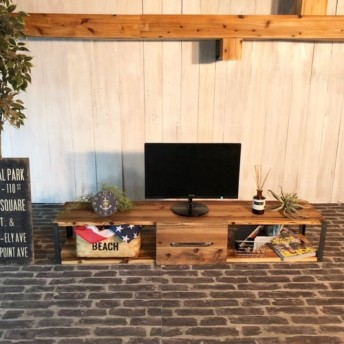 TV38C男前な西海岸インダストリアル テレビボード テレビ台 ローボード 国産 無垢材
