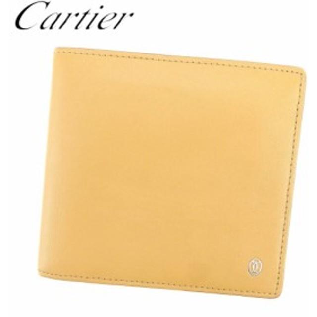 b8ddc21a9c7c カルティエ Cartier 二つ折り 財布 小物 財布 サイフ レディース メンズ 可 パシャ 【中古】 T7618