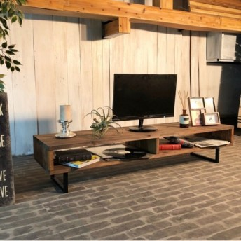 TV41D男前な西海岸インダストリアル テレビボード テレビ台 ローボード 国産 無垢材