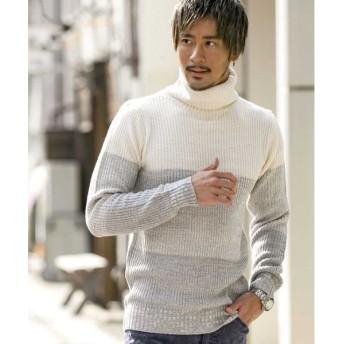 【38%OFF】 エーエスエム 畦編みボトルネックセーター メンズ ホワイト 50(L) 【ASM】 【タイムセール開催中】