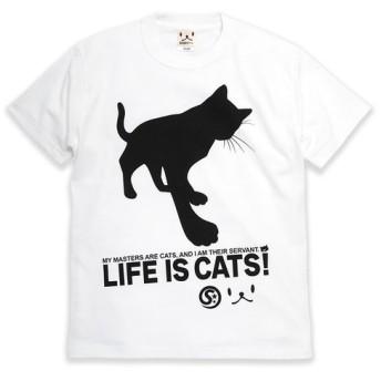 SCOPYネコTシャツ「CAT'S SERVANT」ホワイト