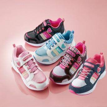 【格安-子供用靴】ジュニア軽量レース使いカジュアルスニーカー
