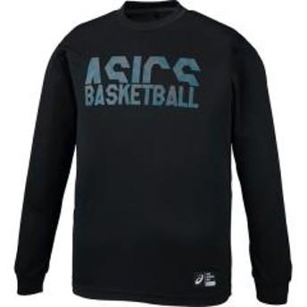 (セール)ASICS(アシックス)バスケットボール メンズ 長袖Tシャツ プリントロングスリーブトップ 2063A034.001 Pブラツク