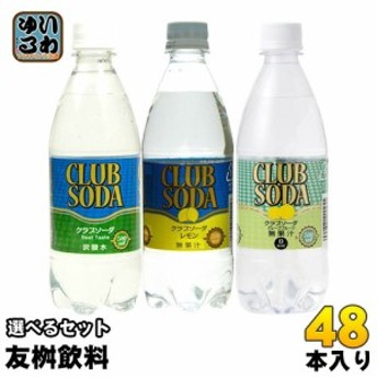 クラブソーダ 500ml ペットボトル 選べる 48本 (24本×2) 友桝飲料