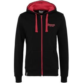 《セール開催中》BOXEUR DES RUES メンズ スウェットシャツ ブラック S コットン 100% HOODED FZIP WITH BACK PRINT AND FRONT LOGO