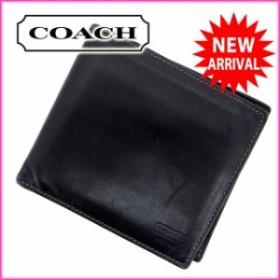 64ad3cda41df コーチ COACH 二つ折り財布 財布 小物 サイフ レディース 【中古】 G445