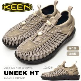 アウトドア スニーカー KEEN キーン メンズ UNEEK HT ユニーク HT 編み上げ スリッポン 1019284 ベージュ クライミング フェス サンダル シューズ 靴 2018新作