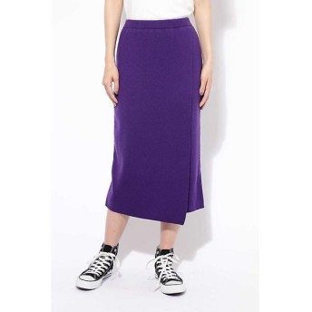 ROSE BUD / ローズ バッド ニット巻き風スカート
