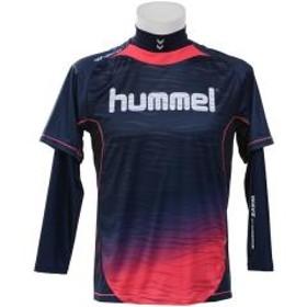 10%OFFクーポン対象商品 (セール)hummel(ヒュンメル)サッカー 長袖プラクティスシャツ 18F HPFC-プラシャツ+インナーセット HAP7109_7024 ネイビーS.ピンク クーポンコード:KZUZN2T