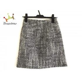 クイーンズコート QUEENS COURT スカート サイズ1 S レディース 白×黒×グレー ツイード           スペシャル特価 20191102