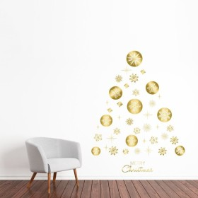 ウォールステッカー クリスマス Christmas 飾り 90×90cm Lsize シール式 装飾 オーナメント ツリー リース 2018 xmas Xmas 016665
