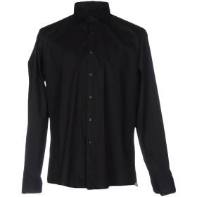 《期間限定セール開催中!》ALEA メンズ シャツ ブラック 39 コットン 97% / ポリウレタン 3%