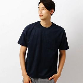 【SALE(伊勢丹)】<COMME CA ISM (メンズ)> フェイク スエード Tシャツ(4760TI04) ネイビー 【三越・伊勢丹/公式】