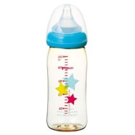ピジョン 母乳実感哺乳びん プラスチック スター柄 240mL