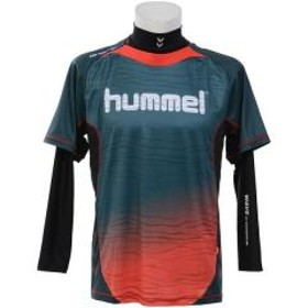 10%OFFクーポン対象商品 (セール)hummel(ヒュンメル)サッカー 長袖プラクティスシャツ 18F HPFC-プラシャツ+インナーセット HAP7109_5722 フォレストヴァーミリアン クーポンコード:KZUZN2T