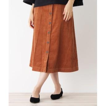 grove(グローブ) 太畝コーデュロイ前ボタンスカート