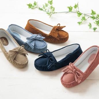 【格安-女性靴】レディースモカシン