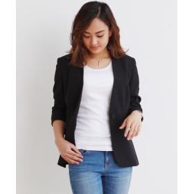 【変り織リスピィシリーズ】小さいサイズ すごく伸びる多機能カラーレスジャケット 【小さいサイズ・小柄・プチ】コート